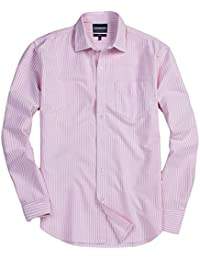 "<span class=""a-offscreen"">[Sponsored]</span>Mens Casual Slim-Fit Long Sleeve Striped Button Down Oxford Shirts Button Up Dress Shirts"