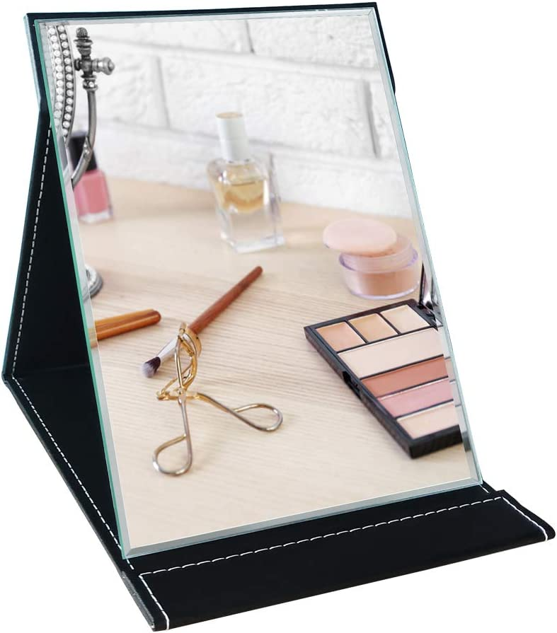 Dreamsyard Portable Folding Makeup Mirror with Cosmetic Desktop Standing for Travel, Vanity Table, Room Decor, Beauty Gifts
