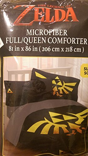 Legend of Zelda Link Triforce Comforter 100 % Queen Size