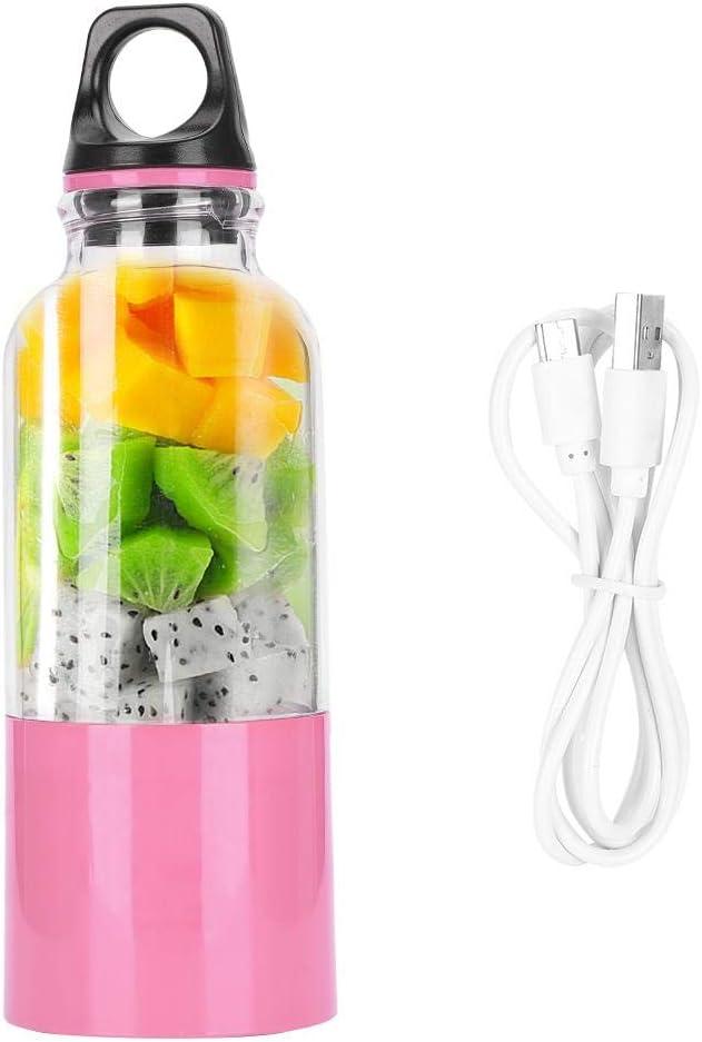 【???????????????????????? ???????????????????????????????????? ????????????????????】500ML Electric Juicer Cup Portable Vegetables Fruit Juice Maker Automatic Tool USB Rechargeable Smoothie Blender Mixer Bottle for Fruit Vegetable Milkshake(