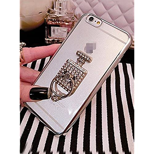 Iphone 5/5s/6/6s/6 plus/6s plus/Galaxy S7/S7 Edge Case,Jesiya 3D Crystal Diamond Shiny Perfume Bottle Ring Stand Sales