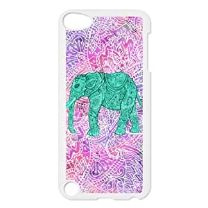 HXYHTY Customized Print Elephant Aztec Tribal Pattern Hard Case for iPod Touch 5