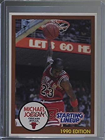 bbd0e3e383591 Amazon.com: Michael Jordan (Basketball Card) 1990-91 Kenner Starting ...