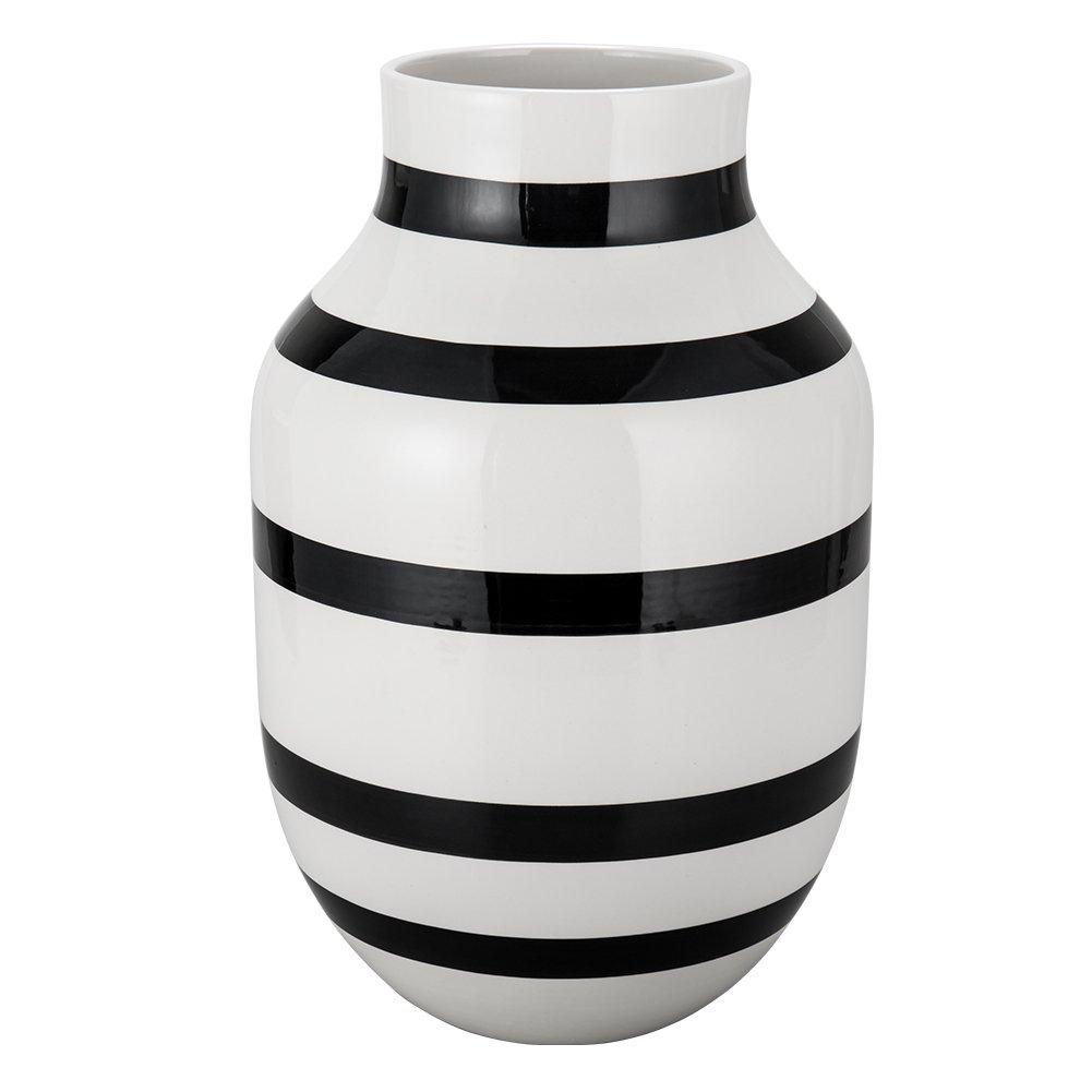 [ ケーラー ] Kahler オマジオ フラワーベース ラージ 30.5cm 花瓶 11679 ブラック Omaggio Vase H305 Black 花びん ベース 北欧雑貨 [並行輸入品] B077KMMNGM ブラック ブラック