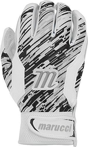 Marucci大人用Quest野球バッティング手袋、ブラック、スモール B01N679LZ8