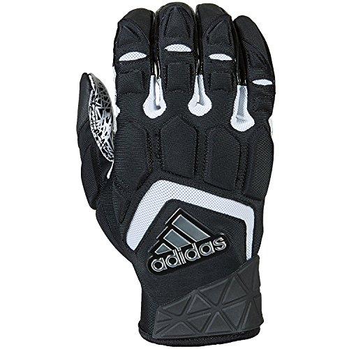 Gloves Adidas Athletic (adidas Freak Max Padded Lineman Gloves, Black/White, Large)