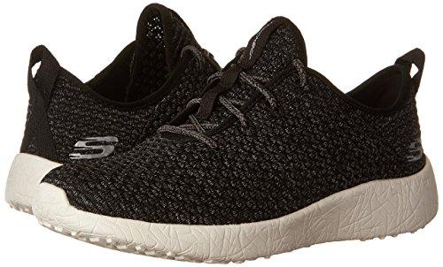Femme Trim Textile Black Burst White Gray Skechers Basses amp; Sneakers wqtxaFZA