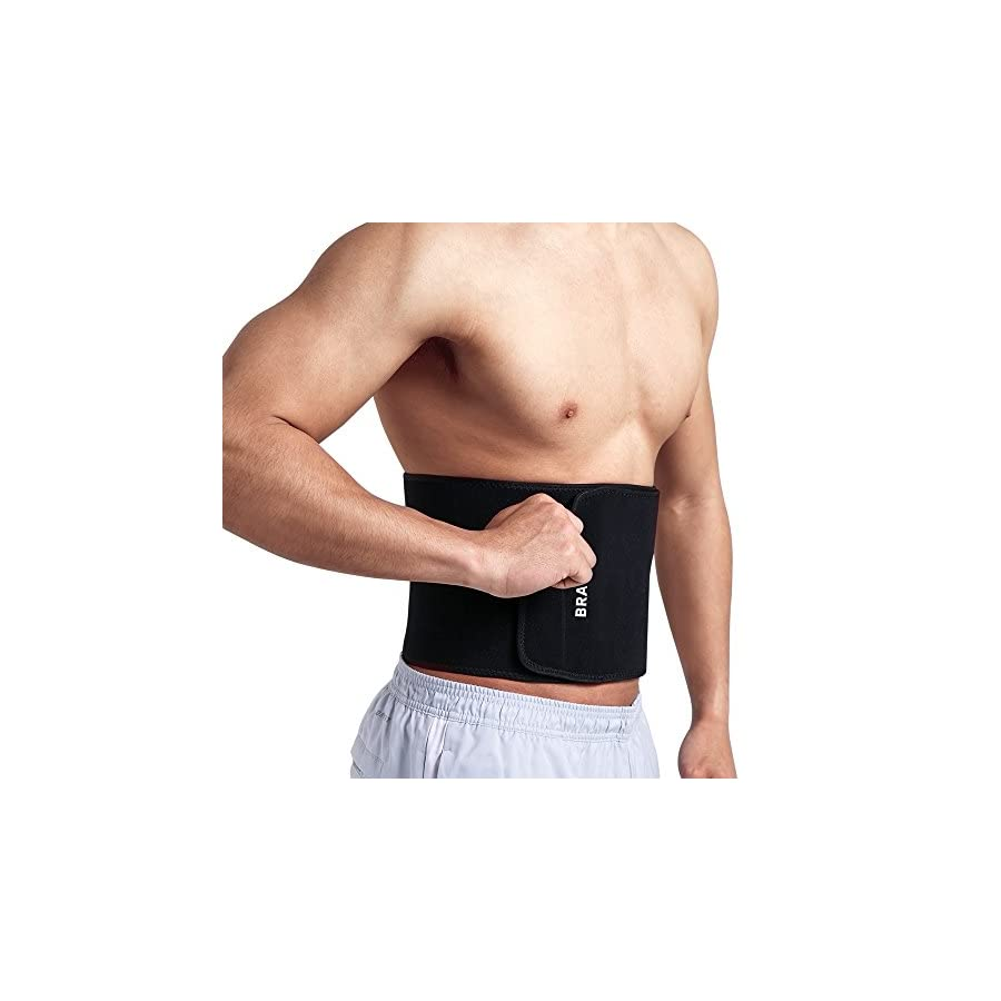 Bracoo SE22 Advanced Waist Trimmer, Broad Coverage Sweat Belt, Caloric Burner, Sauna Band – Increased Core Stability, Metabolic Rate & Shedding Excess Water Weight