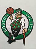 (US) Boston Celtics Embroidered Iron On/sew on Patch 3.25 X 2.75 Inches