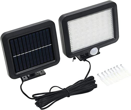 vidaXL Lámpara Solar 56 LED Exterior Sensor Movimiento Foco Alumbrado Jardín: Amazon.es: Iluminación