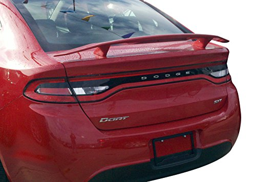 Custom Spoiler for the Dodge Dart Painted in the Factory Paint Code of Your Choice 526 Black ()