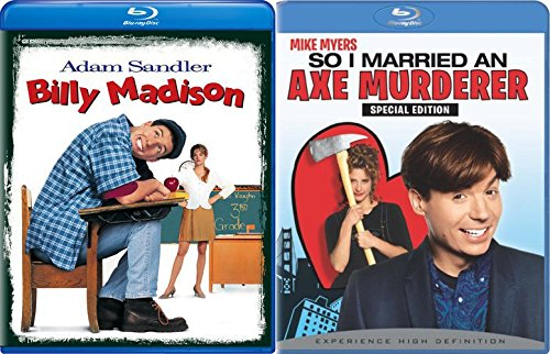 So I Married an Axe Murderer Blu Ray + Billy Madison Comedy Double Feature Adam Sandler Bundle Movie Set