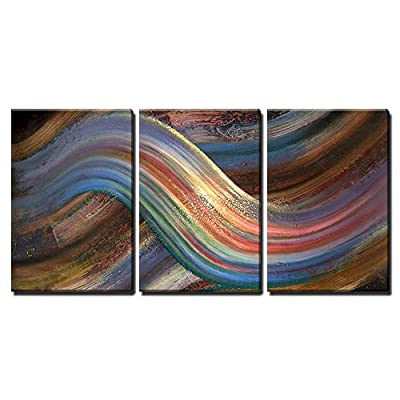 Marvelous Artisanship, Abstract Picture Showing a Symbolic Alternating Scenery x3 Panels, Created By a Professional Artist