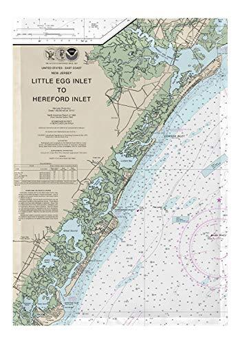 - Betsy Drake Little Egg Inlet Hereford Inlet Avalon, NH Nautical Map Garden Flag