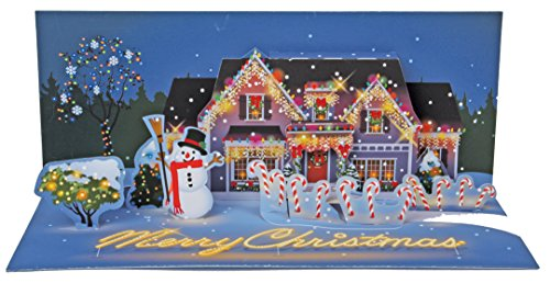 Panoramic Card (Up With Paper Pop-Up Panoramics Light-Up Greeting Card - Holiday Lights)