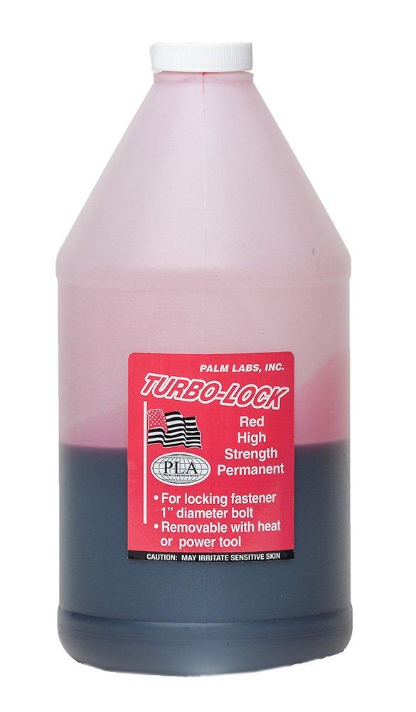 Turbo Lock Red Threadlocker (Loctite 271 Equivalent) Permanent High Strength Thread Locker - Full 1 Liter Bottle