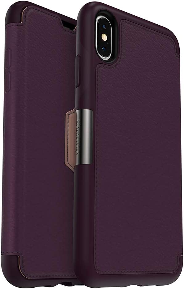 OtterBox STRADA SERIES Case for iPhone Xs Max - Retail Packaging - ROYAL BLUSH (WINTER BLOOM/CAMEO ROSE)