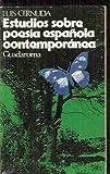 img - for Estudios Sobre Poesia Espa ola Contempor nea book / textbook / text book
