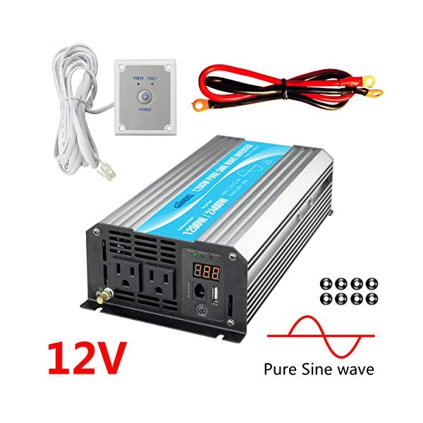 Pure Sine Wave Power Inverter with Remote for Car…