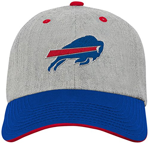 Outerstuff NFL Youth Boys Chainstitch Heather Twill Slouch Hat-Royal -1 Size, Buffalo Bills