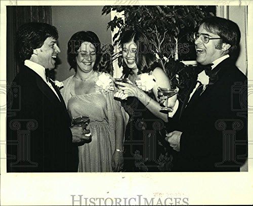 Vintage Photos 1979 Press Photo Mr & Mrs Wayne Donaldson Mr & Mrs Keith Donaldson at Party - 8 x 10 in. - Historic Images