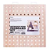 Darice 30053054 System: Wooden Pegboard Kit, 11.5 x 11.5 Inches, 9 Pieces, Unfinished/Natural