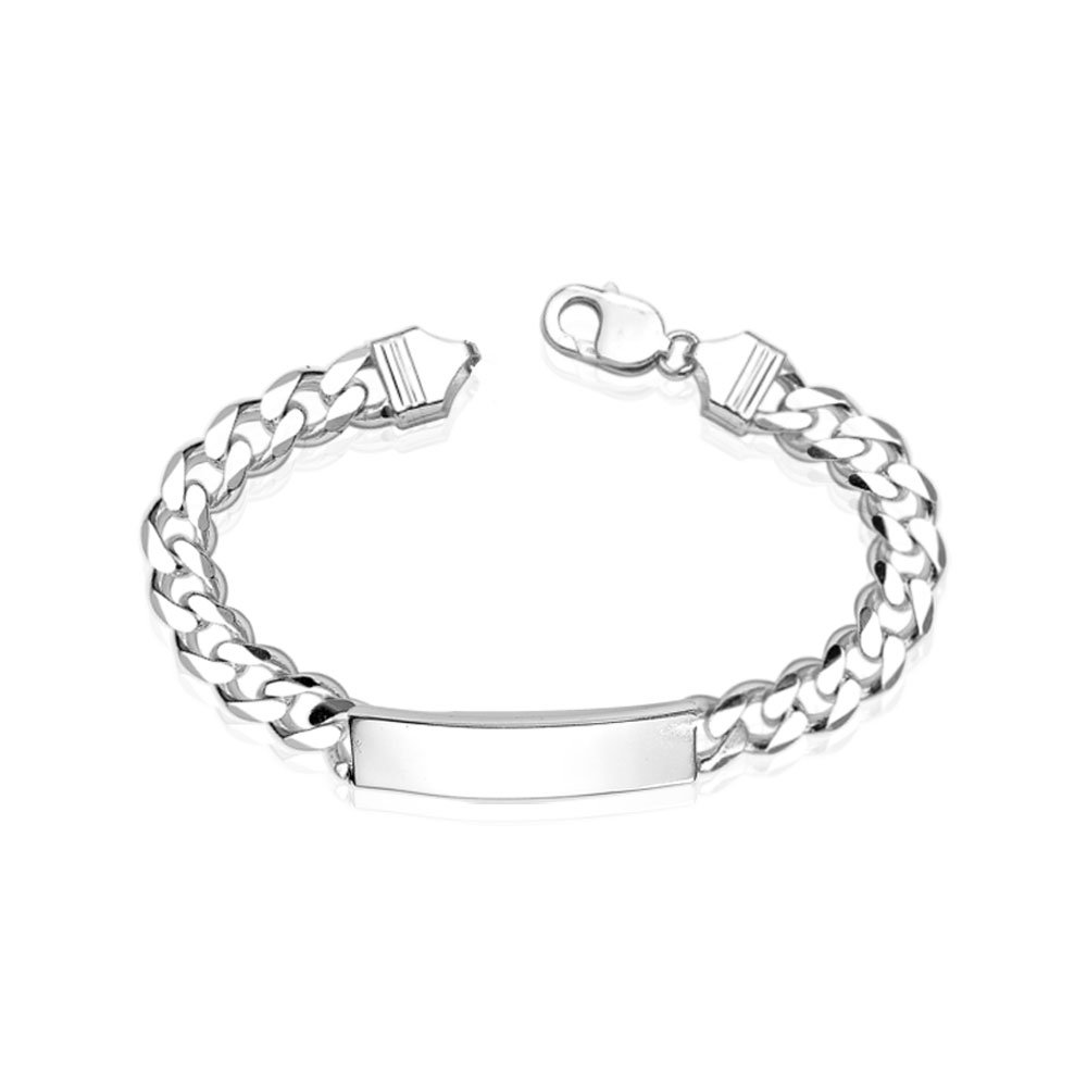 32420274d Taraash Curb ID 925 Sterling Silver Bracelet For Men BR0536S: Amazon.in:  Jewellery