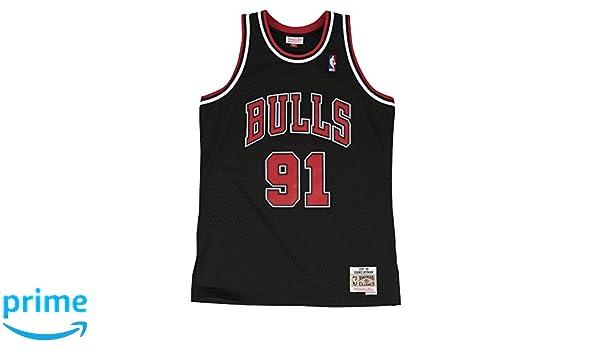 Mitchell & Ness Chicago Bulls 91 Dennis Rodman Swingman Retro Camiseta Jersey, rojo: Amazon.es: Deportes y aire libre