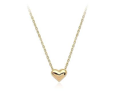 Amazon simple small smooth heart pendant necklace fashion amazon simple small smooth heart pendant necklace fashion jewelry for women gold jewelry aloadofball Images