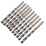 Dark Gray 3.3mm Dia 60mm Long High Speed Steel Twist Drilling Bits 10pcs