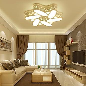 TIANLIANG04 Deckenleuchten Kronleuchter Schlafzimmer Licht_Led    Deckenleuchte Nachttischlampe Fernbedienung, 51 * 51Cm 24W,