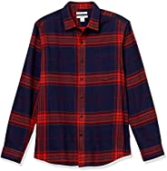 Amazon Essentials Men's Slim-Fit Long-Sleeve Plaid Flannel S