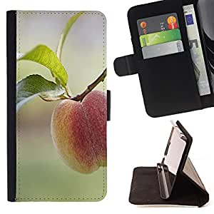King Air - Premium PU Leather Wallet Case with Card Slots, Cash Compartment and Detachable Wrist Strap FOR Sony Xperia Z1 C6902 C6903 C6906- Food