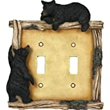 Rivers Edge Products Bear Double Switch Electrical Cover Plate