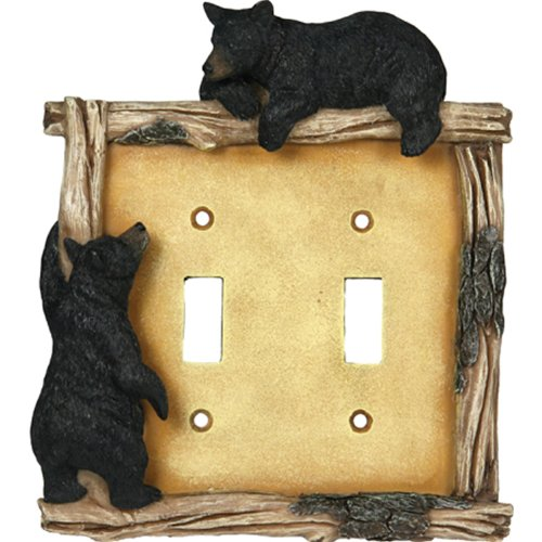Rivers Edge Products Bear Double Switch Electrical Cover Plate Switchplates Accessory