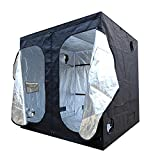 Ipomelo 96''x 48''x 80'' 600D Mylar Hydroponic Grow Tent with Obeservation Window w/ Tools bag and Floor Tray for Indoor Plant Growing