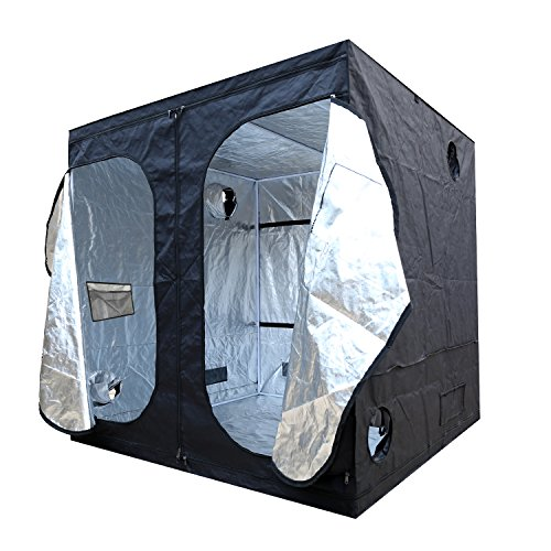 $161.99 indoor grow tent setup IPOMELO 96″x48″x80″ Indoor Grow Tent Mylar Hydroponic Tent with Obeservation Window and Floor Tray for Plant Growing 2019