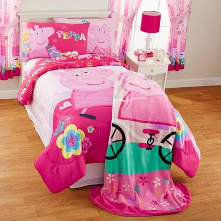 NEW! Peppa Pig Full Comforter, Sheets, Pillow Cases Bedding Set