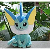 Pokemon Vaporeon soft Plush Stuffed Animals Doll Kids Toys 35 cm