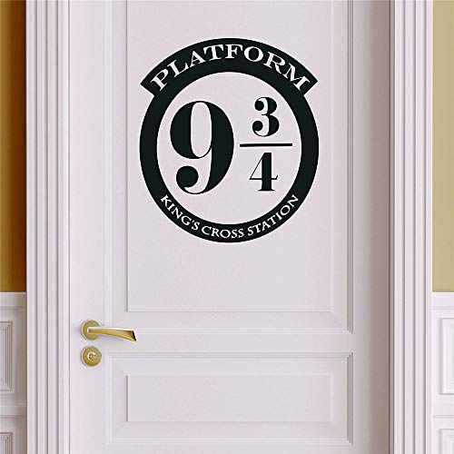 Platform 9 3/4 Version 1 Harry Potter Decor - Wall Decal Vinyl Sticker W20 12'x11' (Message for Color)