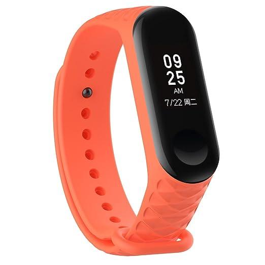 Lyqdxd Reemplazo Correa De Silicona para Reloj Deportivo Xiaomi MI Banda 3 Sports Smart Bracelet Correa De Reloj De Reemplazo para Hombres Y Mujeres También ...