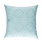 Sweet Potato Soho Pillow, Aqua Print