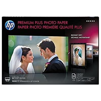 Hp Premium Plus Photo Paper, Glossy, 11x17, 25sh. Hps Highest-quality Paper For