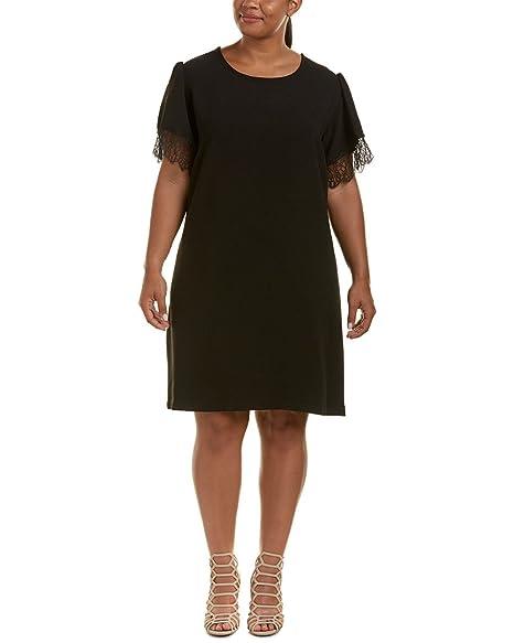 a98c8c55dad Image Unavailable. Image not available for. Color  Lea   Viola Womens Plus Lace  Trim Shift Dress