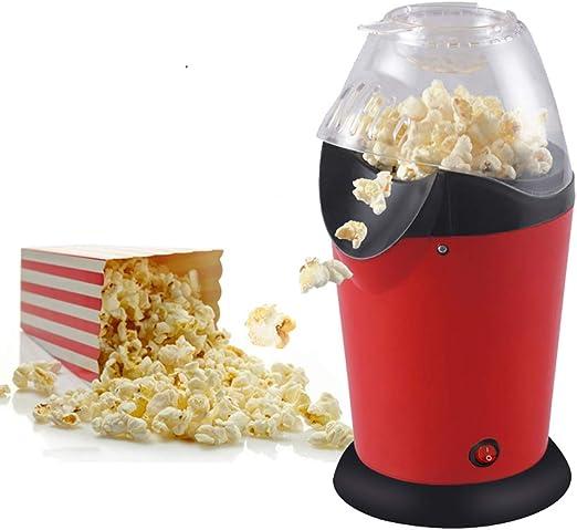 Popper de palomitas de maíz de aire caliente, máquina para hacer palomitas de maíz, máquina eléctrica de palomitas de maíz para uso doméstico, no se necesita aceite con taza medidora y tapa