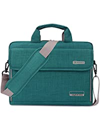 Brinch 17.3 Inch Unisex Oxford Fabric Laptop Sleeve Messenger Shoulder Bag for 17 - 17.3 Inch Laptop / Notebook / MacBook / Ultrabook / Chromebook Computers (Green)
