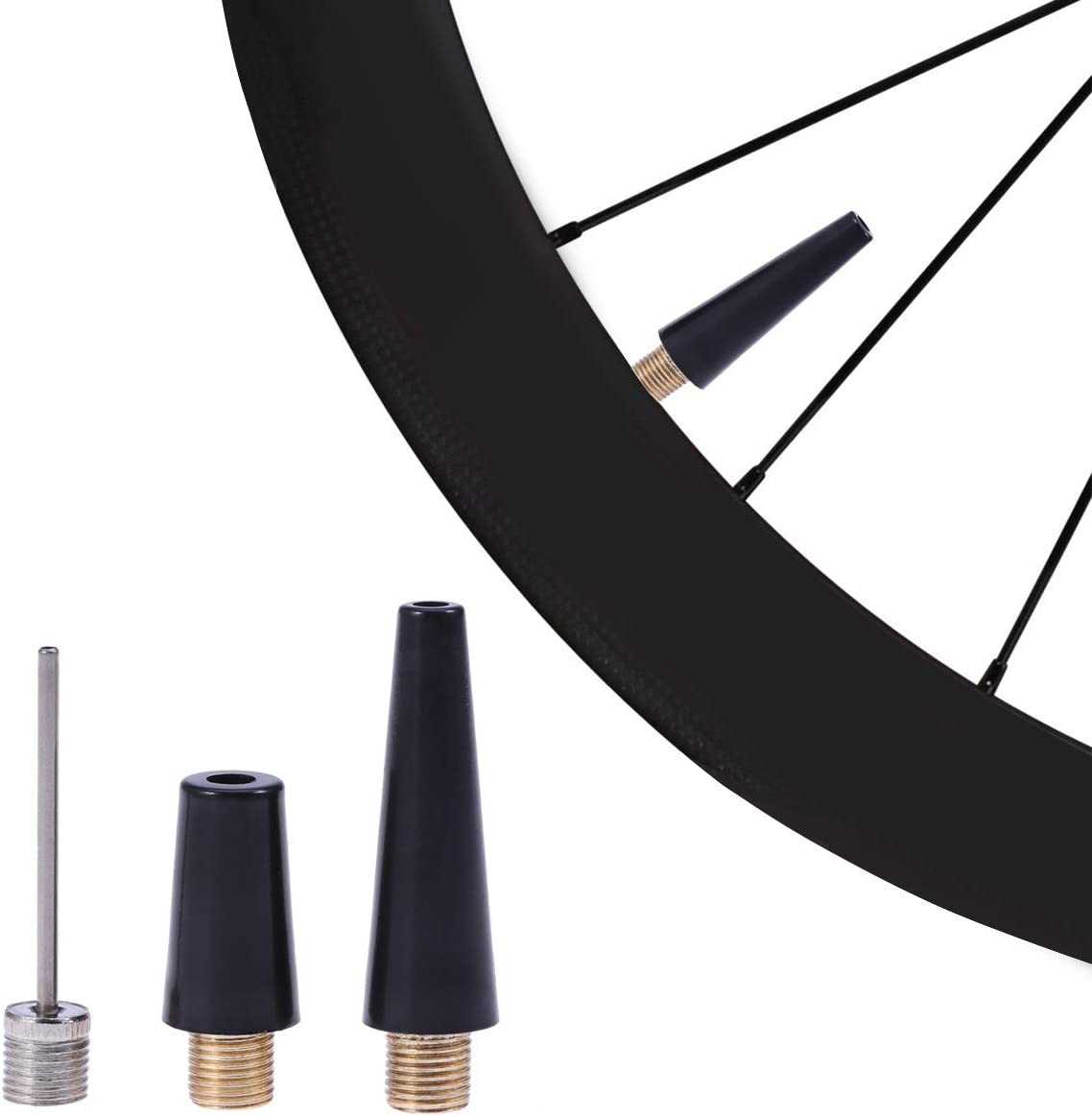 3pcs Ball Bicycle Pump Needle Nozzle Kit Valve Adapter for Ball Bicycle SBJ