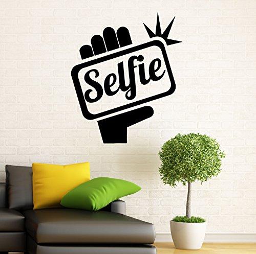 Camera Selfie Wall Decal Photo Studio Decor Vinyl Sticker Photography Interior Home Wall Graphics Art Bedroom Decor (17p01o)