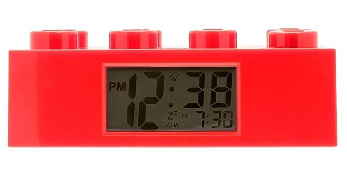 20 opinioni per LEGO 9002168 Sveglia Retroilluminata per Bambini a Mattoncino Rosso, Plastica,