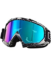 Nicole Knupfer Skibrille Motorradbrillen Schutzbrille,Winter Schnee Sport Snowboardbrille,Skibrille Für Damen Und Herren Jungen Und Mädchen